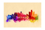Detroit  Michigan - Skyline Abstract
