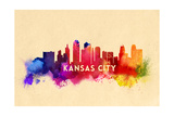 Kansas City  Missouri - Skyline Abstract