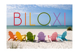Biloxi  Mississippi - Colorful Beach Chairs