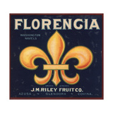 Florencia Brand - Azusa  California - Citrus Crate Label
