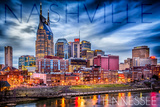 Nashville  Tennessee - Colorful Skyline