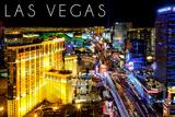 Las Vegas  Nevada - the Strip at Night
