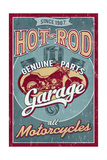 Hot Rod Garage - Motorcycles - Vintage Sign