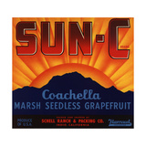 Sun C Brand - Indio  California - Citrus Crate Label
