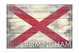 Birmingham  Alabama - State Flag - Barnwood Painting