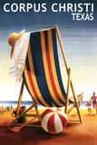 Corpus Christi  Texas - Beach Chair and Ball