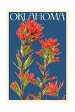 Oklahoma - Indian Paintbrush - Letterpress