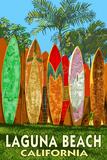 Laguna Beach  California - Surfboard Fence