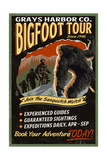Grays Harbor Co - Bigfoot Tours - Vintage Sign