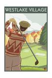 Westlake Village  California - Golfing Scene