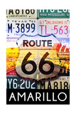 Amarillo Texas - Route 66 License Plates