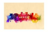 Akron  Ohio - Skyline Abstract