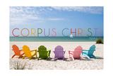 Corpus Christi  Texas - Colorful Beach Chairs