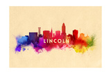 Lincoln  Nebraska - Skyline Abstract