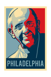 Philadelphia  Pennsylvania - Pope - Lithography Style
