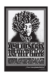 Jimi Hendrix Shrine Auditorium - Black and White - John Van Hamersveld Poster Artwork