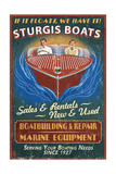 Sturgis  Michigan - Wooden Boats - Vintage Sign