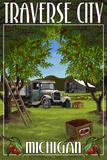 Traverse City  Michigan - Cherry Orchard Harvest