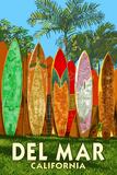 Del Mar  California - Surfboard Fence