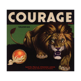 Courage Brand - Santa Paula  California - Citrus Crate Label