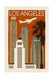 Los Angeles  California - Woodblock