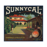 Sunnycal Brand- Irwindale  California - Citrus Crate Label
