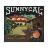 Sunnycal Brand- Irwindale  California - Citrus Crate Label