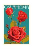 Oklahoma - Rose - Letterpress
