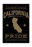 California State Pride - Gold on Black