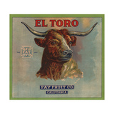 El Toro Brand - California - Citrus Crate Label