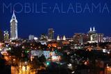Mobile  Alabama - City Lights at Night