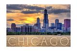 Chicago  Illinois - Moody Skyline