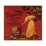 Tropical Queen Brand - California - Citrus Crate Label