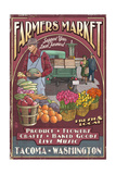 Tacoma  Washington - Farmers Market Vintage Sign