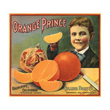 Orange Prince Brand - Highgrove  California - Citrus Crate Label