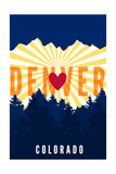 Denver  Colorado - Heart and Treeline (Vertical)