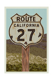 California - Route 27 - Letterpress
