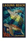 Laguna Beach  California - Sea Turtles - Mosaic
