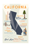Del Mar  California - Typography and Icons