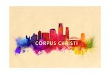 Corpus Christi  Texas - Skyline Abstract
