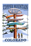 Copper Mountain  Colorado - Destination Signpost (Version 2)