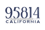 Sacramento  California - 95814 Zip Code (Blue)