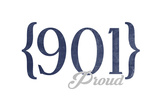 Memphis  Tennessee - 901 Area Code (Blue)