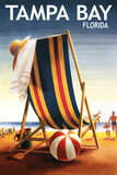 Tampa Bay  Florida - Beach Chair and Ball