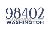 Tacoma  Washington - 98402 Zip Code (Blue)