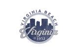 Virginia Beach  Virginia - Skyline Seal (Blue)