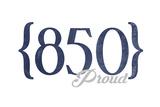 Tallahassee  Florida - 850 Area Code (Blue)