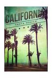 Santa Monica  California - Boardwalk and Palms