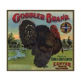 Gobbler Brand - Exeter  California - Citrus Crate Label
