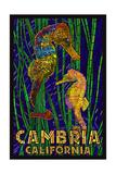 Cambria  California  Seahorses - Paper Mosaic